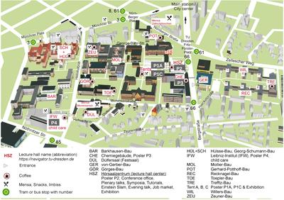Campusplan TU Dresden